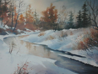 Winter Light - $125.00